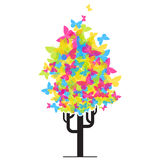 Abstract funky tree from butterflies. Stock Photography