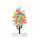 Abstract funky tree. Royalty Free Stock Images