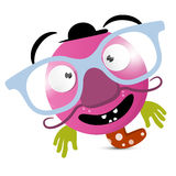 Abstract Funny Avatar - Creature with Glasses Royalty Free Stock Photo