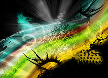 Abstract funny background. Abstract funny collage background illustration royalty free illustration