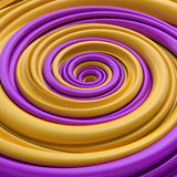 Abstract funny candy spiral background. 3d abstract colorful spiral background Royalty Free Stock Photography
