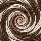 Abstract funny chocolate and milk candy spiral background Royalty Free Stock Photo