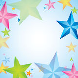 Abstract Funny colored star. Background Stock Image