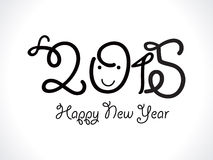 Abstract funny new year text. Vector illustration Stock Photo