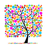 Abstract funny tree for your design Royalty Free Stock Photos