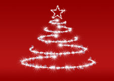 Abstract fur-tree red background Royalty Free Stock Photo