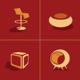 Abstract of furniture design Royalty Free Stock Images