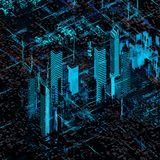 Abstract future city Royalty Free Stock Images