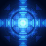 Abstract future download technology system background, vector illustration Stock Images