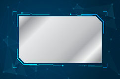 Abstract future futuristic shape virtual graphic user interface. HUD. Computer generated on blue background, vector illustration Stock Images