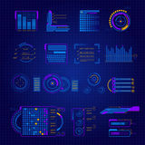 Abstract Future Interface Icon Set Stock Images