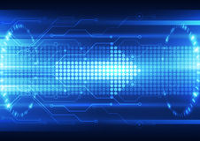 Abstract future speed technology system background, vector illustration. Innovation Stock Photography