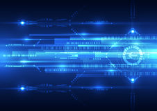 Abstract future speed technology system background, vector illustration Stock Image