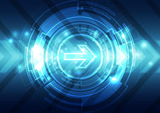 Abstract future speed technology system background, vector illustration Stock Photo