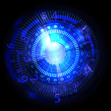 Abstract future technology concept background blue Royalty Free Stock Image