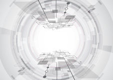 Abstract future technology concept background with various , vector illustration Royalty Free Stock Images
