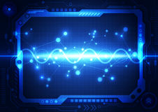 Abstract future technology concept background, vector illustration Stock Photos