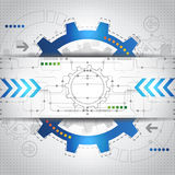 Abstract future technology concept background, vector Stock Photography