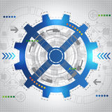 Abstract future technology concept background, vector Royalty Free Stock Photography