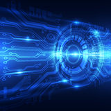 Abstract future technology concept background, vector illustration Stock Images