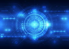 Abstract future technology concept background, vector illustration Royalty Free Stock Images