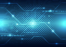 Abstract future technology concept background, vector illustration Royalty Free Stock Photos
