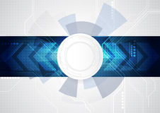 Abstract future technology concept background, vector illustration Royalty Free Stock Photography