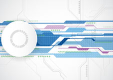 Abstract future technology concept background, vector illustration Stock Photo