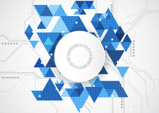 Abstract future technology concept background, vector illustration Royalty Free Stock Photo