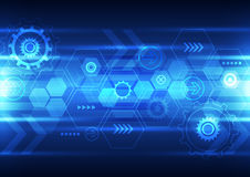 Abstract future technology design background, vector illustration. Innovation Royalty Free Stock Photos