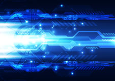 Abstract future technology, illustration background Stock Image