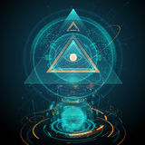 Abstract futuristic all seeing eye illustration. In vector Stock Photography