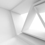 Abstract Futuristic Architecture Background. Minimal Office Inte. 3d Render of White Building Construction. Abstract Futuristic Architecture Background. Minimal Stock Photo