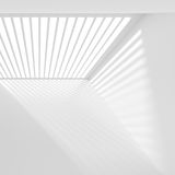 Abstract Futuristic Architecture Background. Minimal Office Inte. 3d Render of White Building Construction. Abstract Futuristic Architecture Background. Minimal Royalty Free Stock Photos