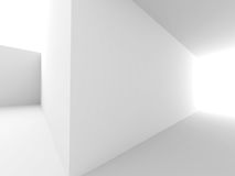 Abstract Futuristic Architecture White Background Stock Photos