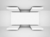 Abstract Futuristic Architecture White Clean Background Royalty Free Stock Image