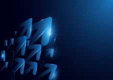 Abstract futuristic arrows and lines technology concept backgroud Stock Photo