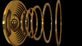 Abstract futuristic audio speaker Royalty Free Stock Images