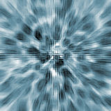 Abstract futuristic backdrop with zoom effect. Abstract futuristic blue backdrop with zoom effect vector illustration