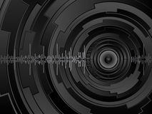 Abstract futuristic background. Vector illustration Royalty Free Stock Photo