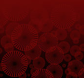 Abstract futuristic background. Red and black background Royalty Free Stock Image