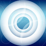 Abstract futuristic background. Blue circles Stock Image