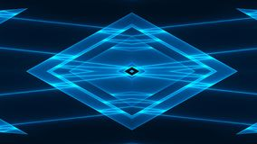 Abstract futuristic background with colorful glowing geometric shapes.  royalty free illustration