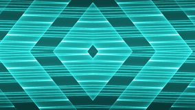 Abstract futuristic background with colorful glowing geometric shapes.  vector illustration