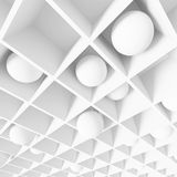 Abstract Futuristic Background. 3d White Abstract Futuristic Background stock illustration