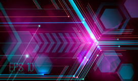 Abstract futuristic background. With dots, lines and triangles. illustration. Rasterized Copy Royalty Free Stock Image