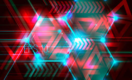 Abstract futuristic background. With dots, lines and triangles. illustration. Rasterized Copy Stock Photo