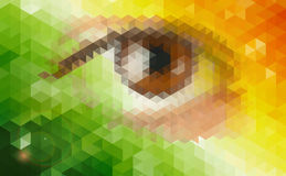 Abstract futuristic background with human eye. Royalty Free Stock Photo