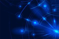 Abstract futuristic background. Abstract neon glowing shapes Royalty Free Stock Image