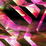 Abstract futuristic background with red, pink and white blocks Stock Photography